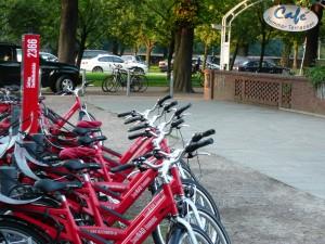 Verleihstation beim Café Sommerterrassen im Stadtpark Hambur
