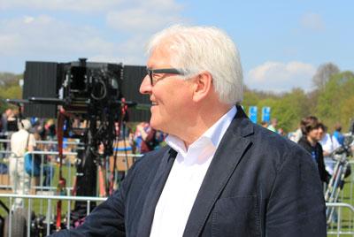 Frank-Walter Steinmeier - ein prominenter Gast aus der Politik