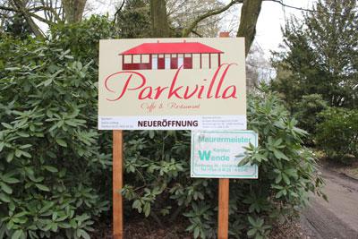 Neues Café namens Parkvilla im Stadtpark Hamburg.