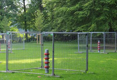 Slacklinepoller vom neuen Parcours im Stadtpark Hamburg